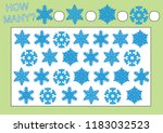count how many snowflakes.... | Shutterstock .eps vector #1183032523