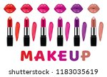 vector makeup set isolated on... | Shutterstock .eps vector #1183035619