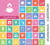 education icon set. very useful ... | Shutterstock .eps vector #1183039630