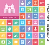 education icon set. very useful ... | Shutterstock .eps vector #1183039636