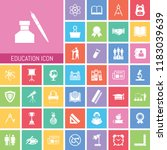 education icon set. very useful ... | Shutterstock .eps vector #1183039639