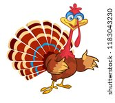 cartoon funny turkey character... | Shutterstock .eps vector #1183043230