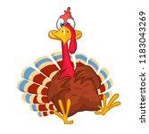 cartoon turkey bird character | Shutterstock .eps vector #1183043269
