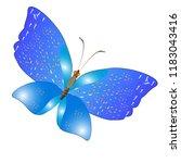 beautiful butterflies  blue...   Shutterstock .eps vector #1183043416