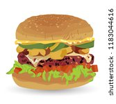 hamburger vector with a white... | Shutterstock .eps vector #1183044616