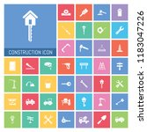 construction icon set. very...   Shutterstock .eps vector #1183047226