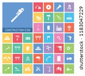construction icon set. very...   Shutterstock .eps vector #1183047229
