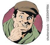 stock illustration. happy man... | Shutterstock .eps vector #1183049986