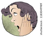 stock illustration. portrait of ... | Shutterstock .eps vector #1183049989