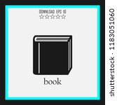 book vector icon | Shutterstock .eps vector #1183051060