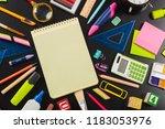 school and office supplies. top ... | Shutterstock . vector #1183053976