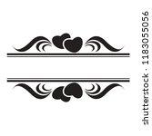 black and white wedding... | Shutterstock .eps vector #1183055056