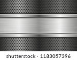 perforated background with... | Shutterstock . vector #1183057396