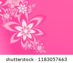 fractal flowers on a bright... | Shutterstock . vector #1183057663