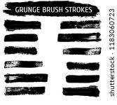 grunge hand drawn paint brush....   Shutterstock .eps vector #1183060723