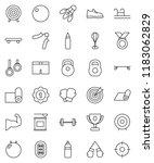 thin line vector icon set  ... | Shutterstock .eps vector #1183062829