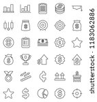 thin line vector icon set  ... | Shutterstock .eps vector #1183062886