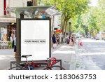 outdoor bus stop advertisement... | Shutterstock . vector #1183063753