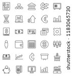 thin line vector icon set  ... | Shutterstock .eps vector #1183065730