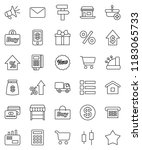 thin line vector icon set  ... | Shutterstock .eps vector #1183065733