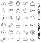 thin line vector icon set  ... | Shutterstock .eps vector #1183065760
