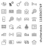 thin line vector icon set  ... | Shutterstock .eps vector #1183065769