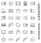 thin line vector icon set  ... | Shutterstock .eps vector #1183065850