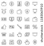 thin line vector icon set  ... | Shutterstock .eps vector #1183065910
