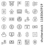thin line vector icon set  ... | Shutterstock .eps vector #1183065919