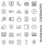 thin line vector icon set  ... | Shutterstock .eps vector #1183066393