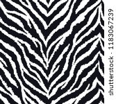 seamless pattern with zebra fur ... | Shutterstock .eps vector #1183067239