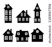 houses. silhouette. city. for...   Shutterstock .eps vector #1183067506