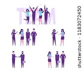 successful business team... | Shutterstock .eps vector #1183072450