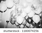 close up of balloons at a party | Shutterstock . vector #1183074256