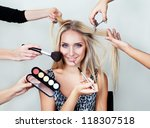 Make Up Woman With Many Hands....