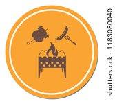 brazier  chicken and sausage...   Shutterstock .eps vector #1183080040