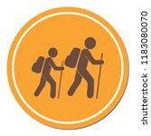 hiking icon illustration... | Shutterstock .eps vector #1183080070