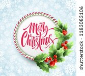 merry christmas lettering in... | Shutterstock .eps vector #1183083106