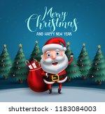 santa claus vector character...   Shutterstock .eps vector #1183084003