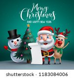 merry christmas vector banner... | Shutterstock .eps vector #1183084006