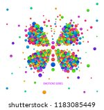 butterly idea on the white... | Shutterstock .eps vector #1183085449