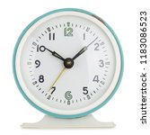 vintage alarm clock analog in... | Shutterstock . vector #1183086523