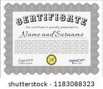grey sample certificate. money... | Shutterstock .eps vector #1183088323