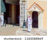 monaco  06 14 2012  honor guard ... | Shutterstock . vector #1183088869