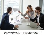diverse business partners... | Shutterstock . vector #1183089523
