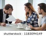 dissatisfied wife have dispute... | Shutterstock . vector #1183094149