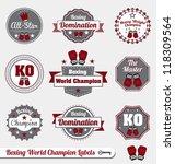 vector set  boxing world... | Shutterstock .eps vector #118309564