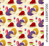 seamless pattern with colorful...   Shutterstock .eps vector #1183097200