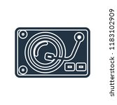 turntable icon vector isolated... | Shutterstock .eps vector #1183102909