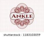 red rosette  money style emblem ... | Shutterstock .eps vector #1183103059